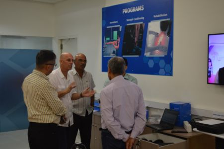 Visit Of Indian Football Team Coach Stephen Constantine With The AIFF Team (2)